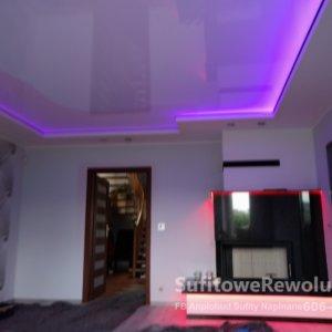 sufit podświetlany LED RGBW