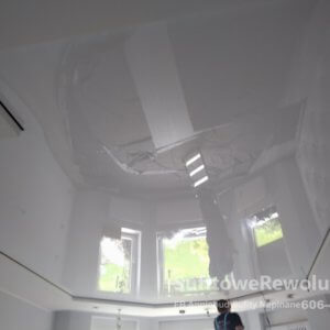 sufit biały połysk