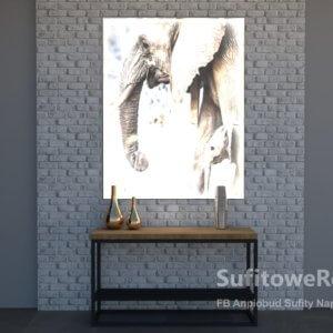 podświetlany obraz na ścianę